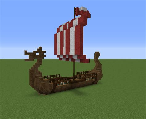 How To Make A Little Boat In Minecraft by Viking Nordic Long Boat Grabcraft Your Number One