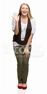 Excited Young Woman Waving Hello Stock Photos - FreeImages.com
