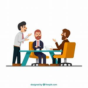 Escena de reunión con hombres de negocios   Descargar ...
