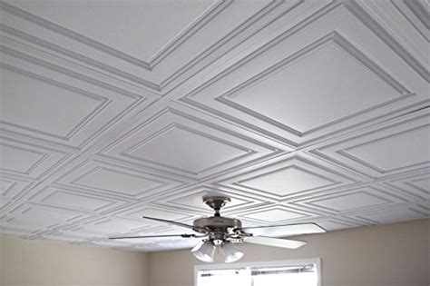 10 pc ceilume 174 stratford white feather light 2x2 lay in ceiling tiles for use in 1 quot t bar