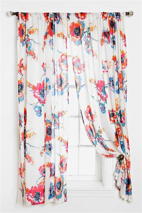 plum bow ikat floral curtain