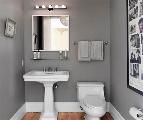 Small Bathroom Paint Ideas With Grey  Home Interiors