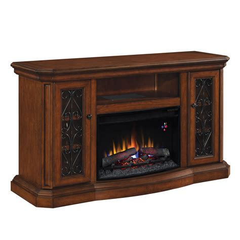 allen electric fireplace shop allen roth 60 in w 4 600 btu wood and metal