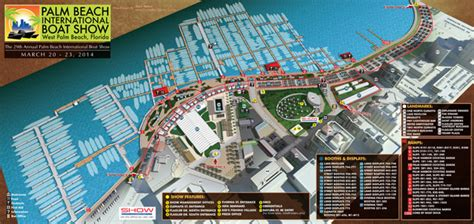 Palm Beach International Boat Show Map by Palm Beach International Boat Show 2014 Map Escape Key