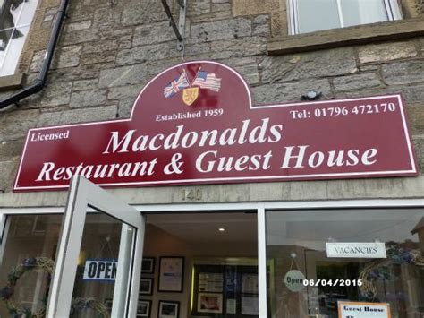 mcdonald s hotel in pitlochry picture of macdonalds