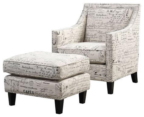 Script Chair And Ottoman by Emery Chair And Ottoman Script Transitional