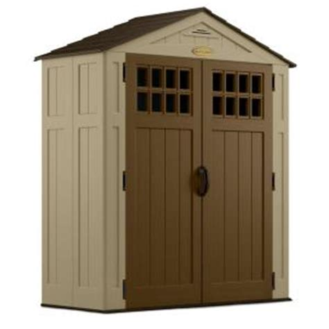 suncast 2 ft 10 in x 6 ft 8 in resin storage shed bms6300 the home depot