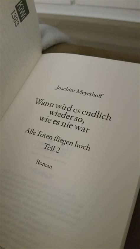 """Joachim Meyerhoff """"wann Wird Es Endlich Wieder So, Wie Es"""