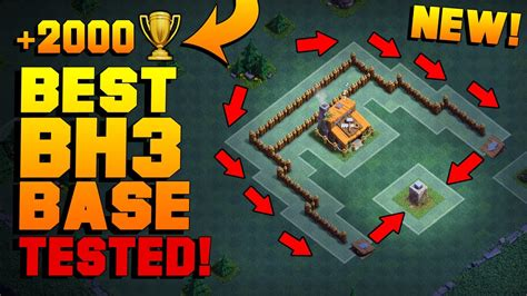 Best Builder Hall 3 Base W Proof!!  New Coc Bh3 Anti 2 Star Builder Base!  Clash Of Clans