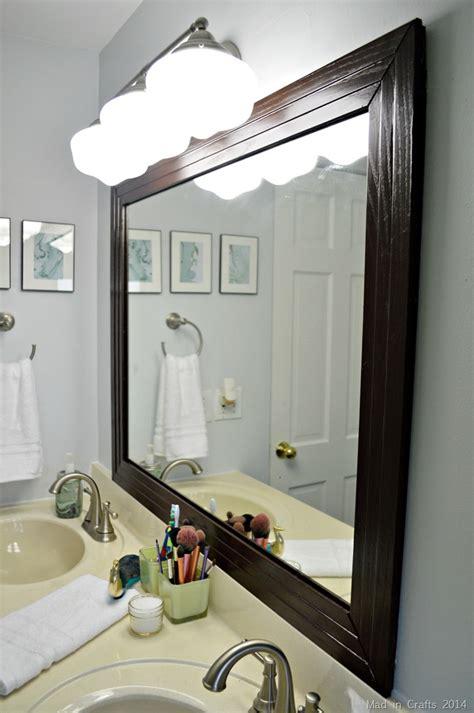 Framed Bathroom Mirror  Mad In Crafts. Plantation Blinds. Weather Tite Windows. Farmhouse Kitchen Ideas. Kohler Levity Shower Door. Greek Key Fabric. Rush Seat Chairs. Floating Shelves Above Toilet. Swarovski Crystal Chandelier
