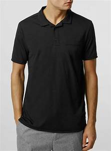 Topman Black Revere Polo Neck T-shirt in Black for Men | Lyst
