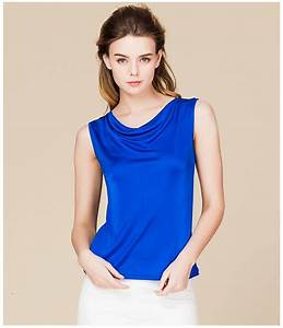 100% Real Silk Women's Tank Tops Femme Sleeveless Candy ...