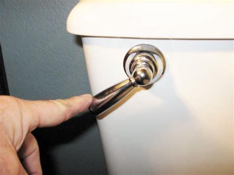 home maintenance toilet running flushing handle stuck froggy