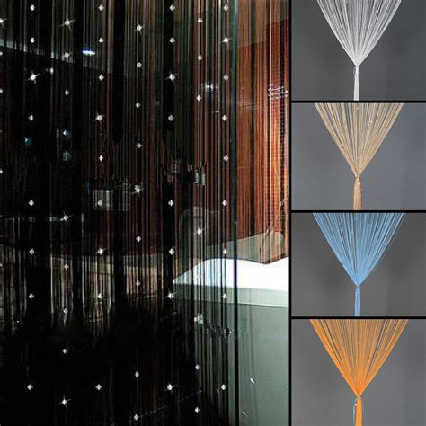 beaded string curtain door divider tassel