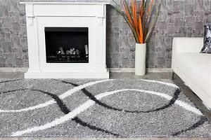 Antirutschmatte Teppich Auf Teppich : teppich shaggy portofino hochflor teppich modern 160x230 cm grau wei ~ Markanthonyermac.com Haus und Dekorationen