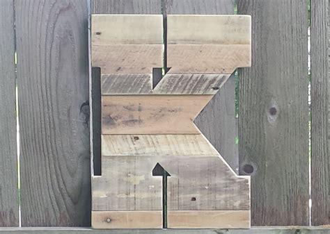 Letter K Home Decor : Letter K Large Rustic Wood Letter Rustic Home Decor