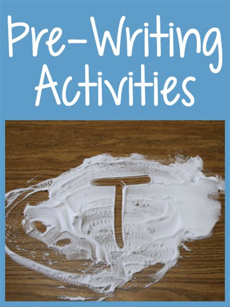 Prewriting Activities Prekinders
