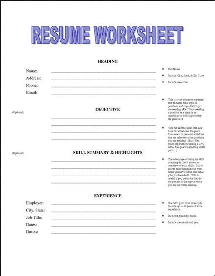 Printable Resume Worksheet Free  Httpjobresumesample. What Is Difference Between Cv And Resume. Curriculum Vitae Resume Samples. What To Put In A Resume Profile. Warehouse Operations Manager Resume. Resume For Assistant Principal. Verbs To Use In A Resume. Education In A Resume. Resume Plus