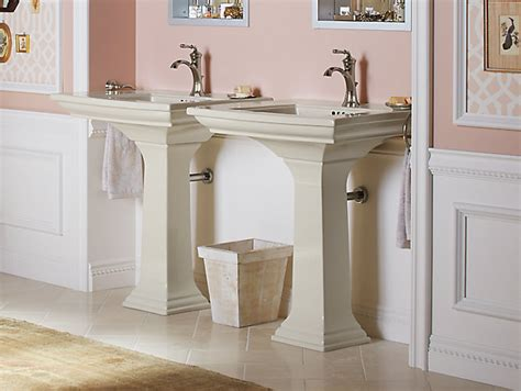 memoirs pedestal sink with stately design and single