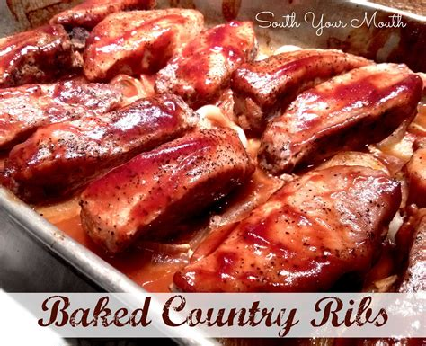 South Your Mouth Baked Country Ribs