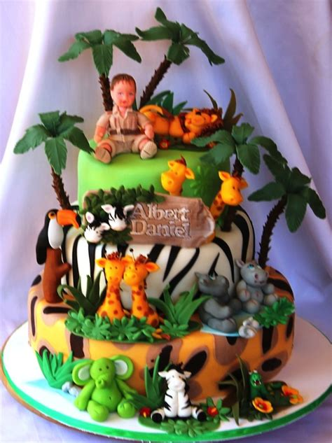 jungle theme cake animal jungle safari theme birthday cakes and