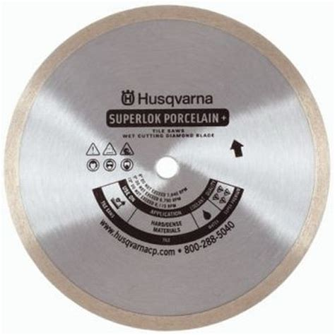 husqvarna ceramic tile saw blade 10 inch premium superlok