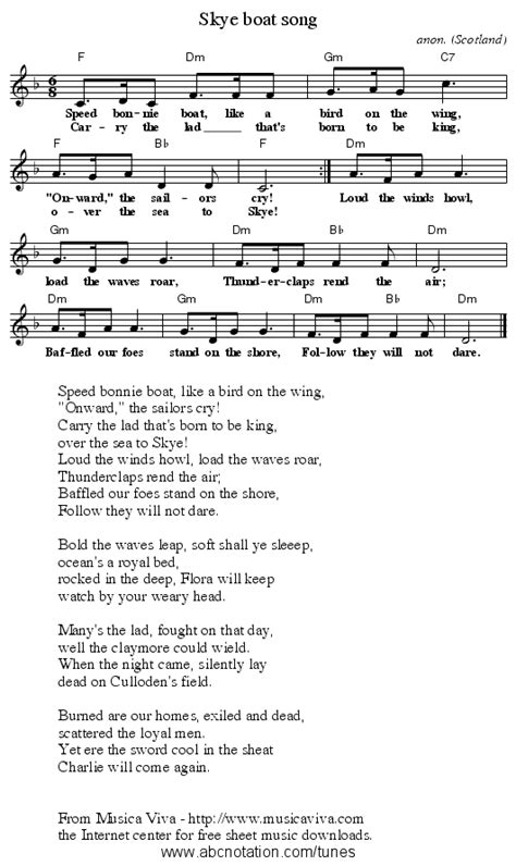 Boat Song To Skye by History Skye Boat Song