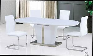 Table Salle A Manger Blanc Laqué. table salle manger coloris blanc ...