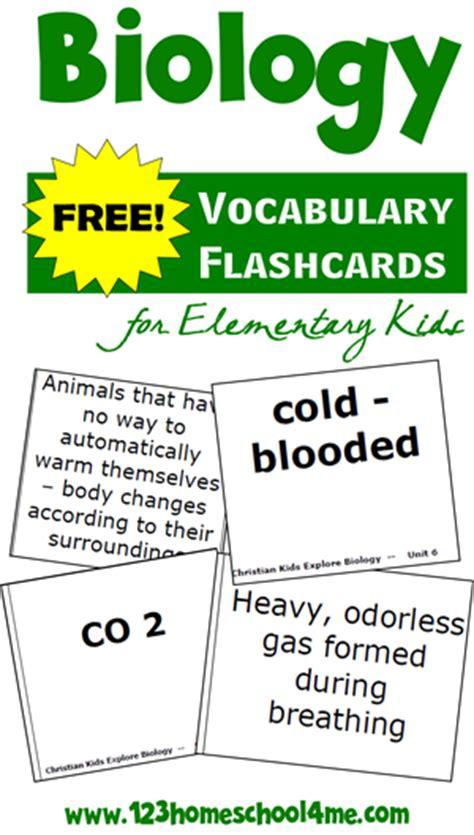 Free Biology Vocabulary Flashcards  Elementary Level  Free Homeschool Deals