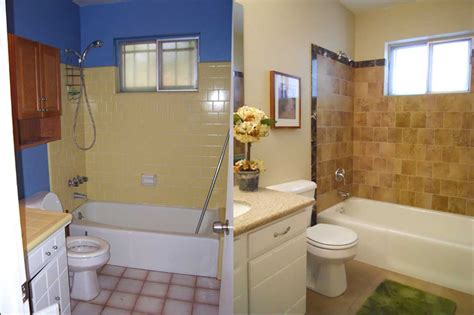 Bathroom Remodel Blue Before And After Remodeling Ideas