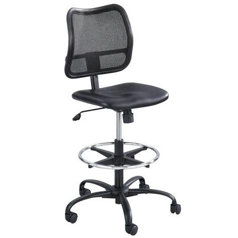 extended height vinyl drafting chair in black 3395bv
