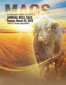 Magness Land & Cattle Annual Bull Sale by Monti West ...