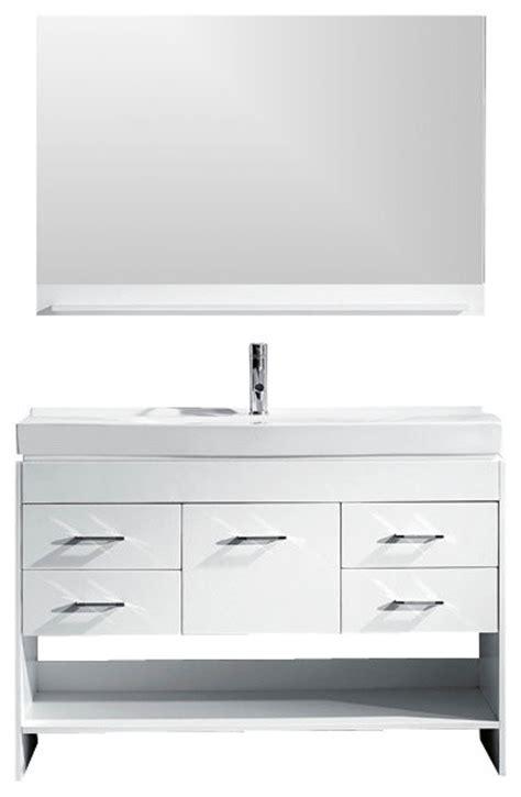 gloria 48 quot single bathroom vanity cabinet set in white