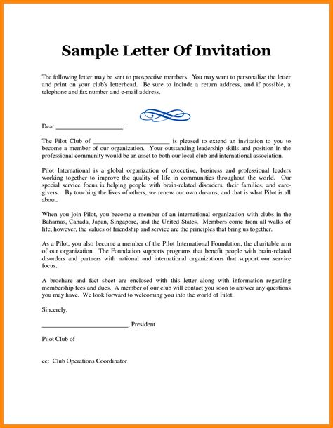 8+ Example Of Formal Invitation Letter  Penn Working Papers
