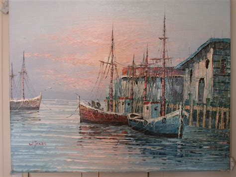 Fishing Boat Art by Paintings Of Fishing Boats In The Harbor Art Community