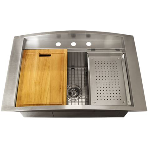 ticor tr2000 overmount 16 stainless steel square kitchen sink accessories