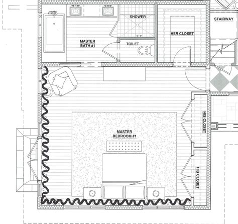 master bedroom floor plans  Picture Gallery of the Master