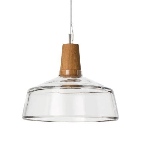 suspension industrielle en bois et en verre souffl 233