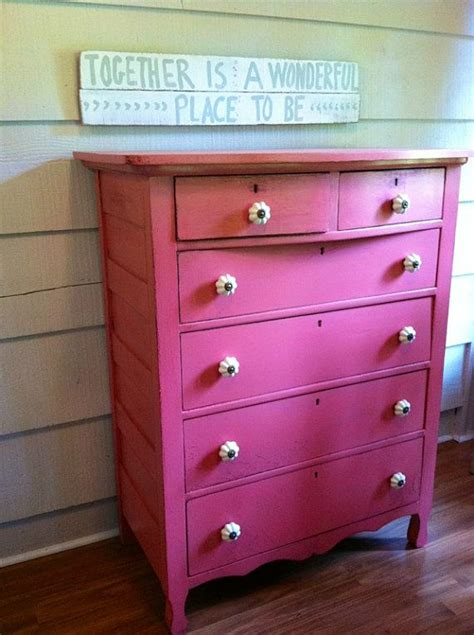 vintage dresser painted pink with white knobs painted furniture gi