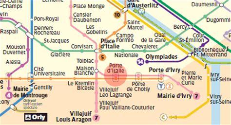 porte d italie station map metro