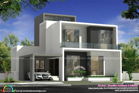 Cute Simple Contemporary House Plan  Kerala Home Design