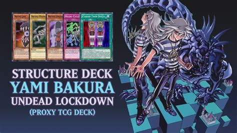 structure deck yami bakura undead lockdown proxy tcg