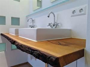 Platte Für Waschtisch : waschtischplatte holz f r aufsatzwaschbecken waschtisch unterschrank ~ Markanthonyermac.com Haus und Dekorationen