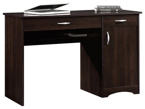 sauder beginnings desk in cinnamon cherry transitional desks and hutches by homesquare
