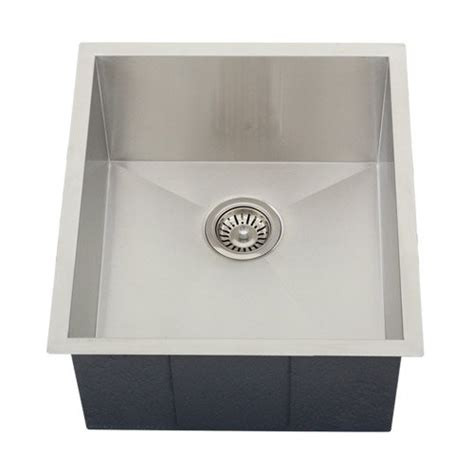 ticor undermount 16 stainless steel single bowl square kitchen sink best kitchen sinks