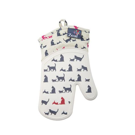 Zeal Oven Gloves by Zeal Cat Pattern Oven Glove Fast Shipping