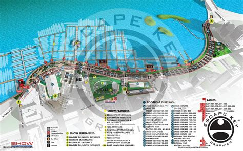 Palm Beach International Boat Show Map by Palm Beach Boat Show Map Illustration By Artist And
