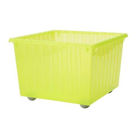 vessla bac de rangement avec roulettes vert clair ikea