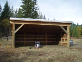 loafing shed out builings cattle barn and
