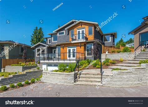 Big Custom Made Luxury Modern House Stock Photo 355011128
